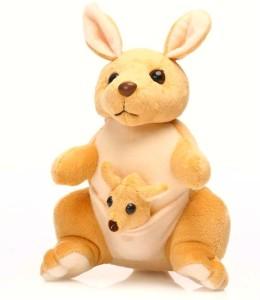 Lata Mini Kangaroo with Baby  - 22 cm