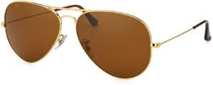 4686ece845109 Suncare RB3025 l9797 size 58 golden brown Aviator Sunglasses Brown ...