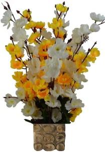 937fcca4932e9 Kaykon Designer Pot with 16 Sticks Flowers For Home Decoration Multicolor Orchids  Artificial Flower ( 17