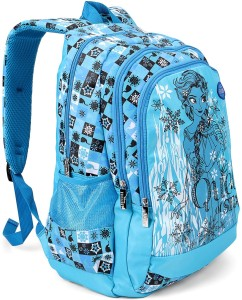 f7eab08f08a Disney Frozen Elsa Olaf Blue School Bag 19 Inch Backpack Blue 19 ...