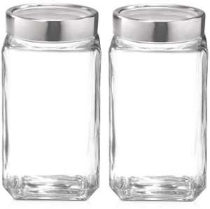 ezra Container  - 1000 ml Glass Tea, Coffee & Sugar Container