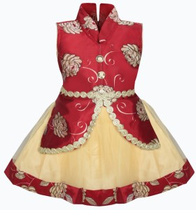 b838d3af569 MKB Baby Girl s Maxi Full Length Casual Dress Maroon Sleeveless Best ...