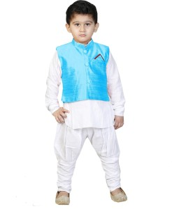800a45794 JBN Creation Boys Festive Party Kurta Waistcoat and Breeches Set ...