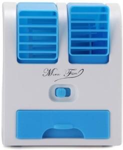 esnap Mini Fragrance Air conditioner Cooling USB Fan (Blue) MIni AC USB Charger