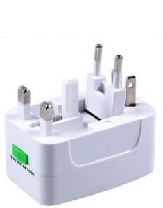 VibeX ™ Multifunctional Travel International Plug Universal AC Socket Worldwide Adaptor