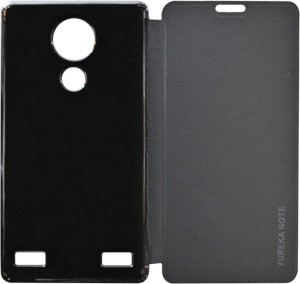more photos 9f065 31a9a Coverage Flip Cover for YU Yureka Note Black Best Price in India ...