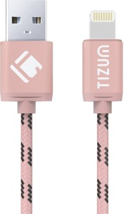 TIZUM 8 Pin Lightning (4.0 ft / 1.2 mtr) Premium Kevlar-Nylon Fiber, Fast Charging & Data Sync USB Cable