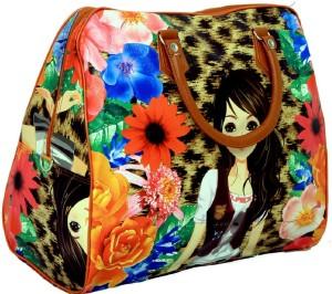 Kuber Industries Women Elegent Handheld Spacious Luggage, Multi Purpose Utility Digital Printed Bag Travel Duffel Bag
