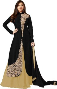 2b04973c3 Zelly Creation Georgette Embroidered Semi stitched Salwar Suit Dupatta  Material Best Price in India