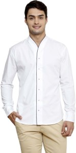 BIS Creations Men's Solid Casual White Shirt