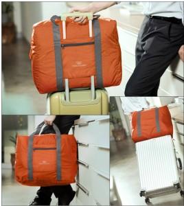 c619e519d904b DIZIONARIO Folding Flight Cabin Size Compliant Expandable Small Travel Bag  Small Travel Bag - MediumOrange