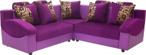 Wood Pecker Solid Wood Sectional Crash Violet Sofa Set