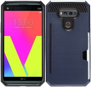 reputable site 3cc34 d6d46 Zizo Wireless Wallet Case Cover for LG V20Blue, Black, Wallet Case Cover,  Metal, Plastic