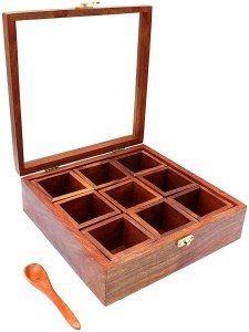 craftspoint  - 1 L Wooden Spice Container