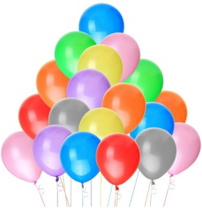 PartyballoonsHK Multicolor Solid Birthday Party Decorations Balloons 100 Best Price In India