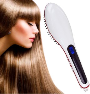 VibeX ® Automatic LCD Temperature Control Paddle Brush Hair Straightener Professional Look™ -Type-107 Hair Straightener