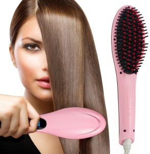 VibeX ™ Electric Pro Automatic LCD Temperature Control Paddle Brush Hair Straightener Professional Look™ -Type-106 Hair Straightener