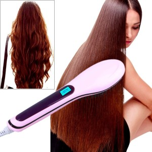 VibeX ® Hot Electric Hair Straightener Comb LCD Iron Brush Auto Hair Massager Tool Professional Look™ -Type-109 Hair Straightener