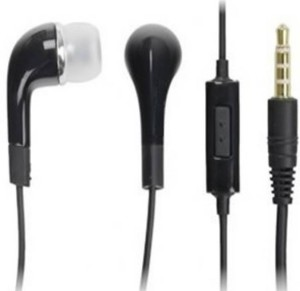 Digitalmart Top Selling Original earphone for Samsung , HTC,& all android devices Handsfree With Remote Wired Headset With Mic (Black) Wired Headphones
