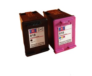 AC AC 818 Black&colour combo ink cartridge HP Deskjet D1668/ D2668/ D5568/ F2418/ F2488/ F4488/ C4688/ C4788/ D2568/ F4288/ 110/ D411a. Single Color Ink