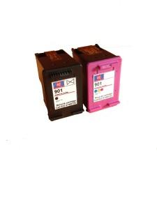AC AC 901 Black&colour combo Ink Cartridge HP J4580/ J4640/ J4680/ 4500/ G510g/ J4500/ J4540/ J4550/ J4580/ J4640/ G510n. Single Color Ink