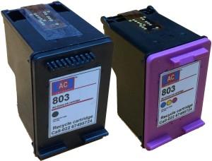 AC AC 803 Black&colour combo Ink Cartridge HP Deskjet 1112/ 1112/ 1111/ 2131/ 2132 Printer Single Color Ink