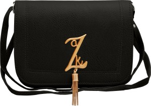 tap fashion Women Black PU Sling Bag Best Price in India  ffa25e612f438