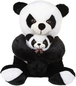 Pari Soft Panda With Baby  - 50 cm