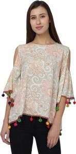 Naisha Casual 3/4th Sleeve Printed Women Multicolor Top