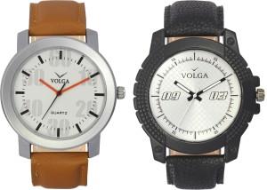 Volga Branded Leather Quality Designer Dial Diwali Special Combo541 Designer Sport Looks WaterProof Mens Watch Analog Watch  - For Men