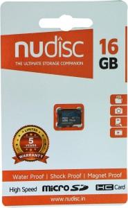 Nudisc 16 GB MicroSDHC Class 10 20 MB/s  Memory Card
