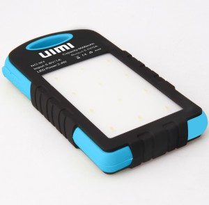 UIMI U3 SkyBlue Water and Dust Proof With Dual Output Port Solar 6000 mAh Power Bank