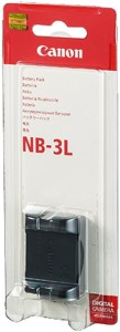 Canon NB 3L Rechargeable Li-ion Battery