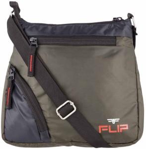 FLIp Men Women Green Nylon Sling Bag Best Price in India  f9652118b64a0