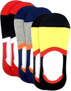 Color Fevrr Men & Women Striped No Show Socks, Footie Socks