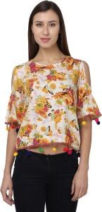 Naisha Casual Shoulder Strap Floral Print Women Multicolor Top