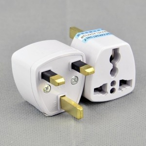 Axxel UK Universal Flat Pin 3 Pin Travel Power Plug Worldwide Adaptor