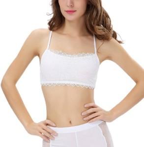 47b0fd6d422 Samyak Women s Girl s Bralette Full Coverage White Bra Best Price in India