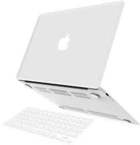 best service d9244 510a0 LUKE AIR 11-inch WHITE Rubberized Hard Case Cover For Macbook Air 11.6  (Models: A1370 and A1465) Combo Set
