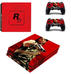 Hytech Plus Red Dead Redemption Special Edition Theme Sticker for PS4 PRO  Console & 2 Controllers Gaming Accessory KitMulticolor, For PS4
