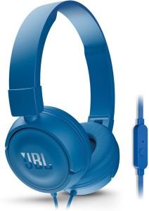 43fc37b2f0e JBL T450 PureBass Headphones Blue On the Ear Best Price in India ...