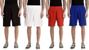 Avigo Solid Men & Women Multicolor Sports Shorts