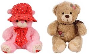 Tabby Toys Pink Cap Teddy 40 cm And Innocent Teddy Soft Toy  - 40 cm