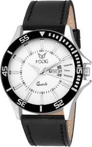 FOGG 1044-CK WH101 New Stylish Tag Date and Day Analog Watch  - For Men