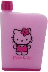 Royle Katoch Portable Reuseable Unbreakable Cartoon Hello Kitty Pink A5 Notebook Water Bottle Notebook Style BPA Free Toon Character LeakProof ML 380 ml Water Bottle