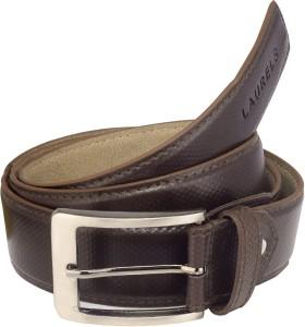 Laurels Men Formal Brown Artificial Leather Belt