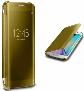 TGK Flip Cover for SAMSUNG Galaxy S7 Edge Gold Best Price in India ... b902bdce6735