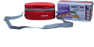 Nayasa high grade super insulated delux duplex (red,stainless steel) 3 Containers Lunch Box