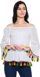 Zastraa Casual Full Sleeve Solid Women's White Top