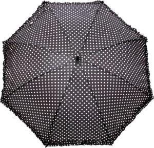 Hou Dy Black And White Polka Dots Frilled Umbrella Black White Best